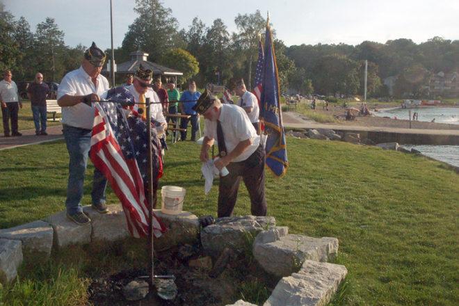 Local American Legion Members Host Flag Burning