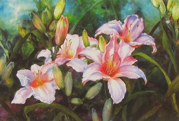 """Dancing Lilies"" by Connie Glowacki."