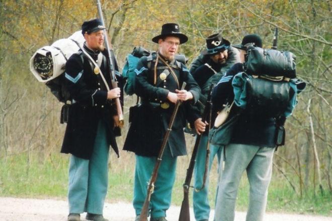 Civil War Reenactment Camp in Fish Creek Aug 19, 20