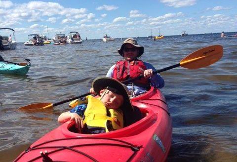 Framed: Kayaking on Eagle Harbor