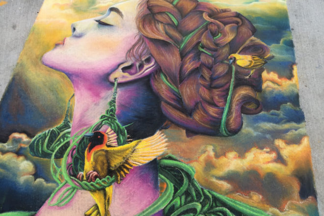 Chalk Artists Plan Door County Piece for Harvest Festival