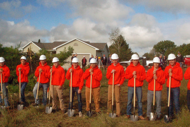 Ground Broken for 9th Student-Built Home