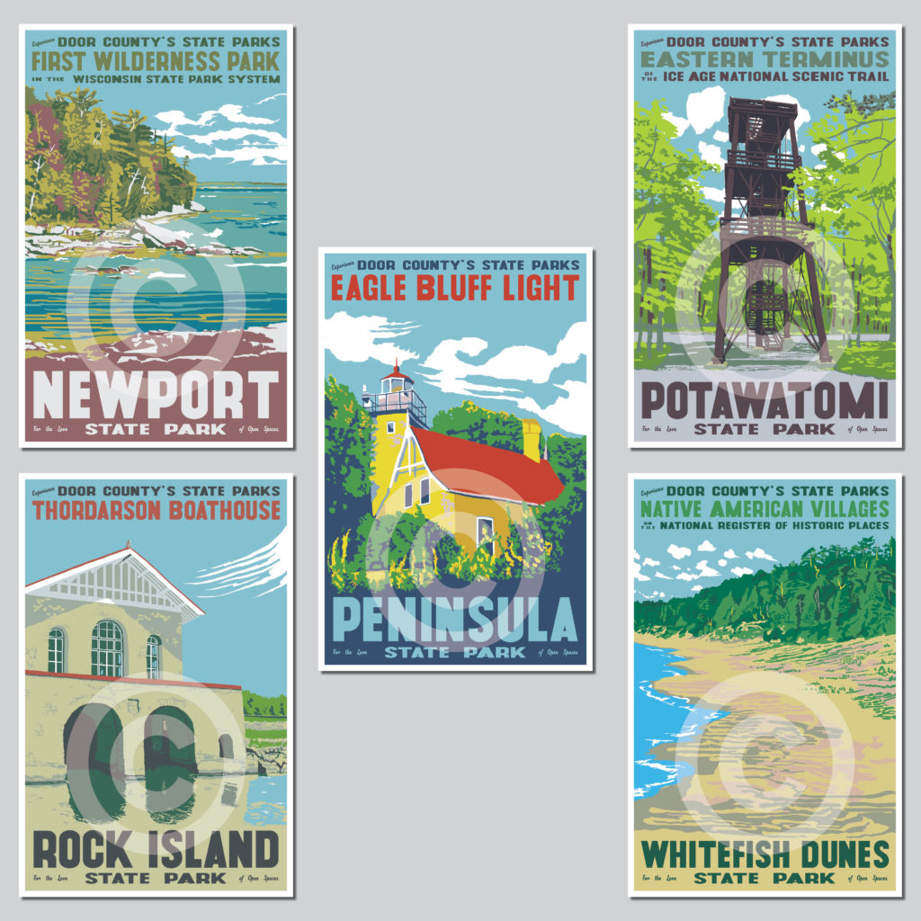 Door County State Parks Poster Collection Door County Pulse