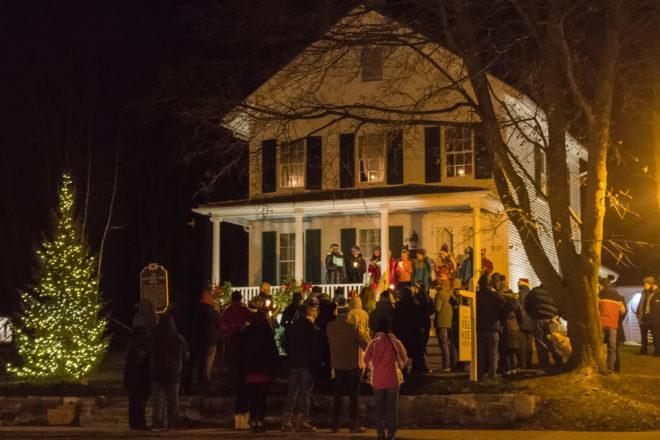 Caroling, Tree Lighting in Fish Creek's Noble Square