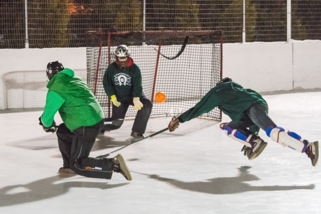 Johnson Park Solidifies Hold On First in Broomball