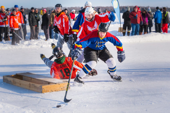 Len Villano's Pic of the Week: Door County Pond Hockey Tournament