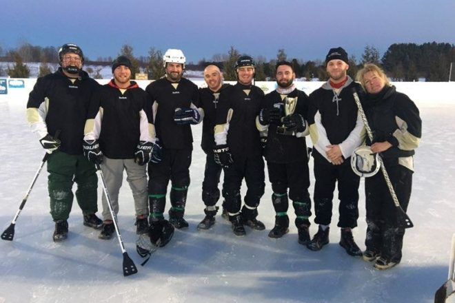 Vinny Livieri Finally Gets The Cup as Johnson's Park Takes Broomball Title