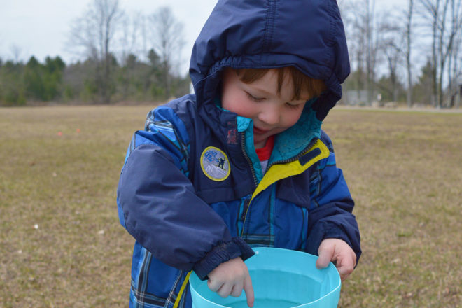 Baileys Harbor Egg Hunt Held at The Town Hall