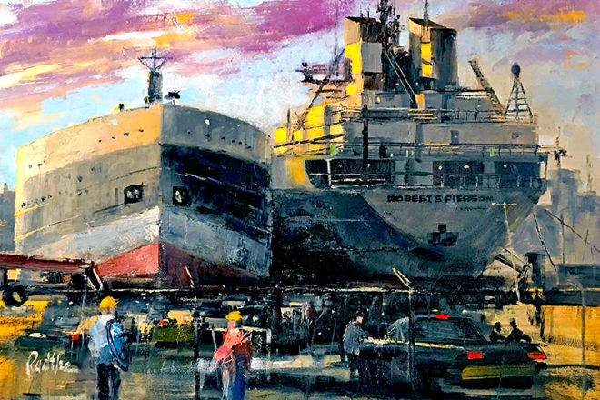 Questions & Artists:  Maritime Painter Lee Radtke