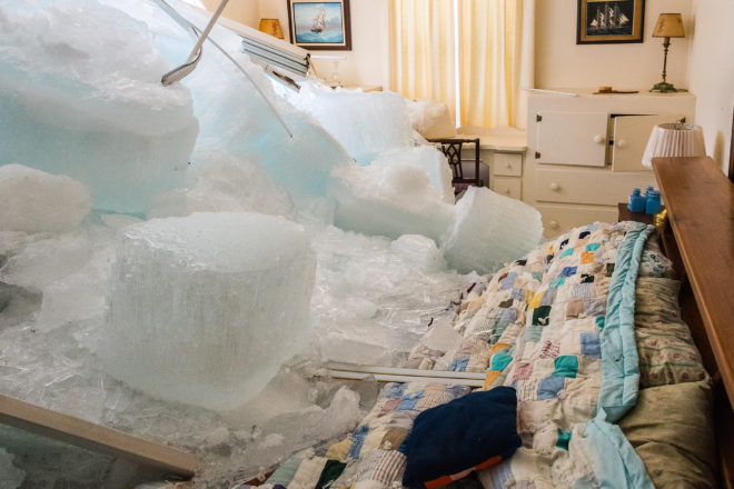 Ice Shove Plows into Home in Southern Door County
