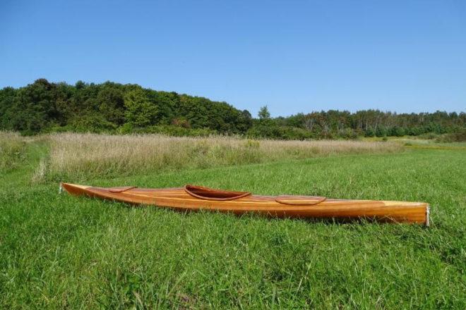 DCMM Auctions Off New Wood Kayak