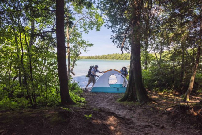 The draft master plan calls for additional c&sites at Newport State Park. Photo by Len Villano. & DNR Releases Draft Plan for State Parks - Door County Pulse