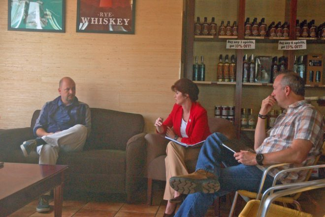 Lt. Governor Kleefisch Hears From Wine Trail Members