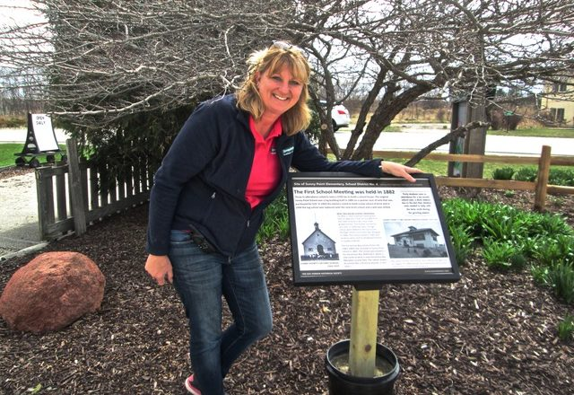 Egg Harbor Historical Society Places Sign at Sunnypoint Gardens