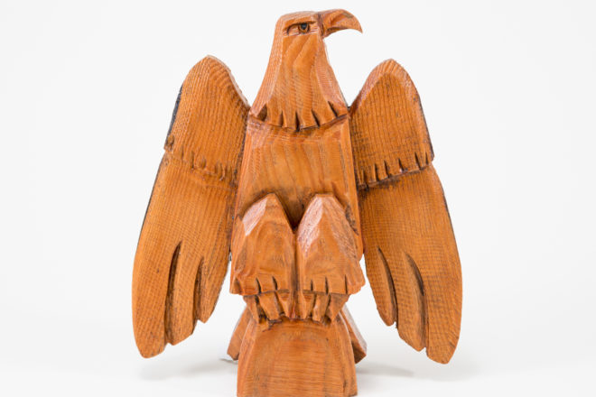 David Frykman Carves Wood from Eagle Tower