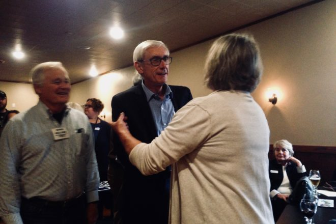 Tony Evers Visits Sturgeon Bay on Eve of Election