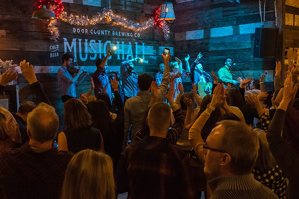 McMahons Create a Scene in Baileys Harbor at Door County Brewing Co. Music Hall