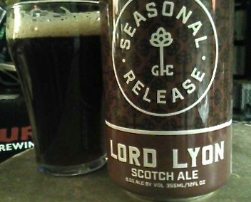 Scotch Ale, Door County, Beer, beer review, Seasonal Release, Lord Lyon, Jim Lundstrom, Good City Brewing