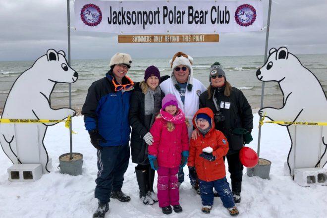 Jacksonport Polar Bear Plunge, Jarosh Family, Jarosh, Jacksonport, family photo