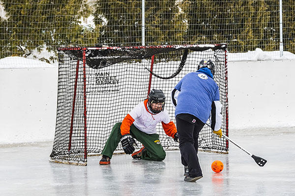 VIDEO: Broomball a Winter Pastime
