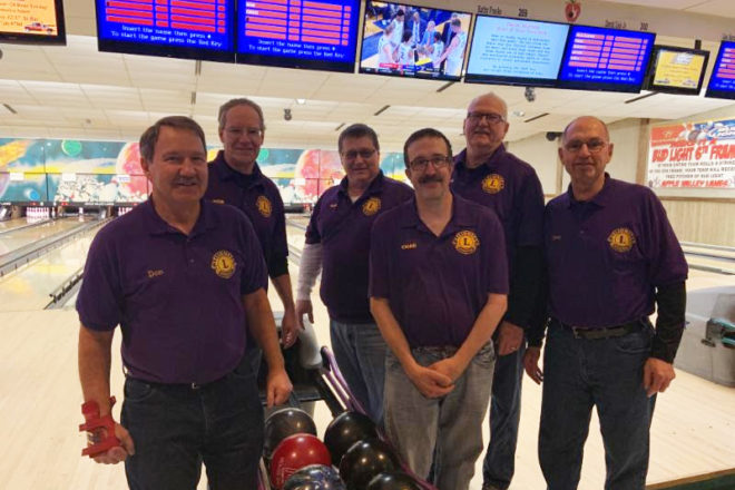 Framed: Lions Club at the Bowl-a-Thon