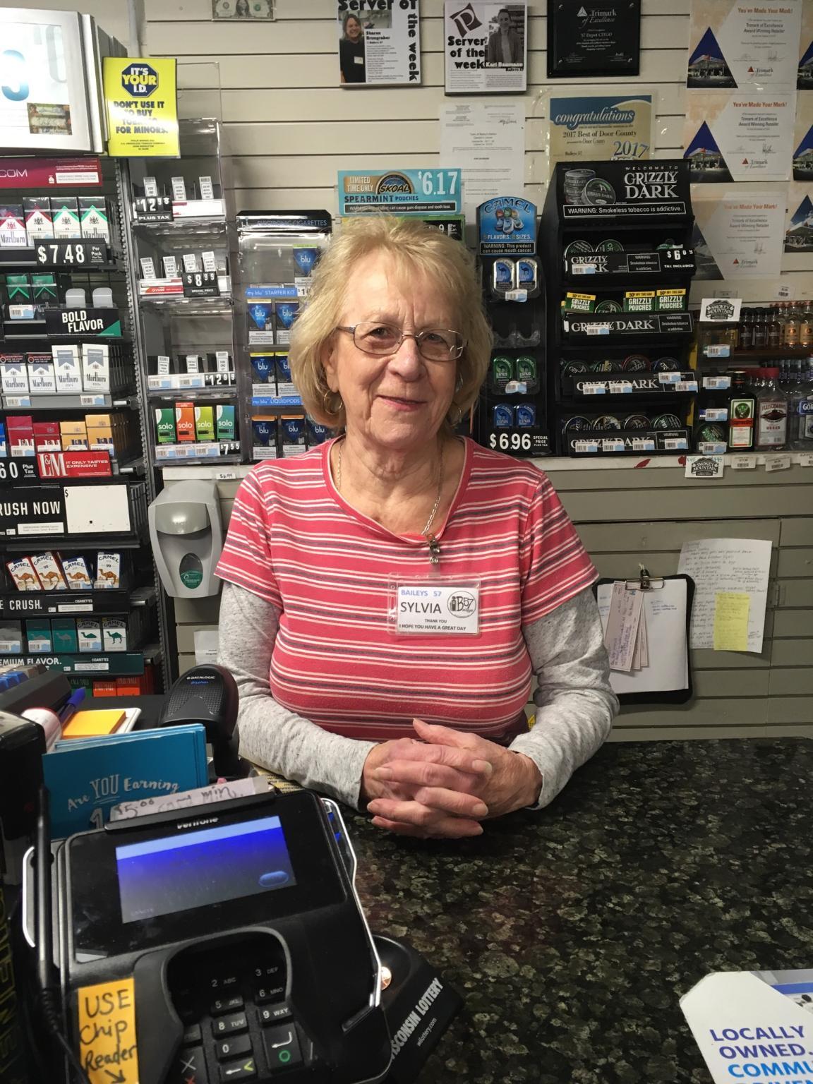 Server of the Week, Baileys 57, Sylvia Reinhardt, Baileys Harbor, Door County