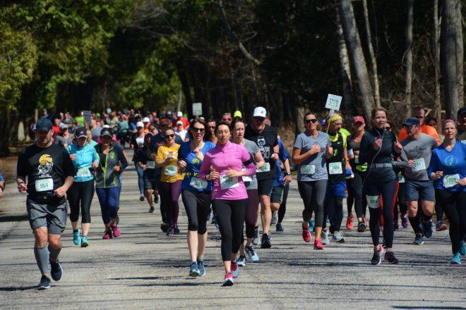 2,041 Cross Finish Line at Door County Half Marathon and 5K