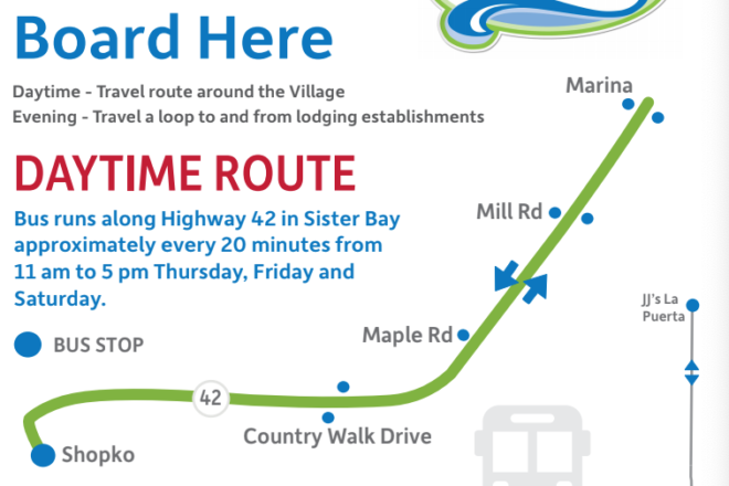 Sister Bay Shuttle Returns June 29 Door County Pulse