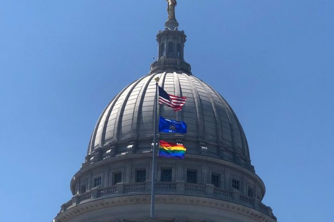 State News: LGBTQ Flag Flies Over Wisconsin State Capitol