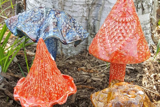 Ceramic Garden Mushroom Demo At Artzy Studio Door County Pulse