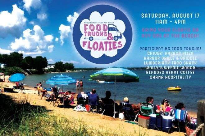 Food Trucks and Floaties at Anclam Beach