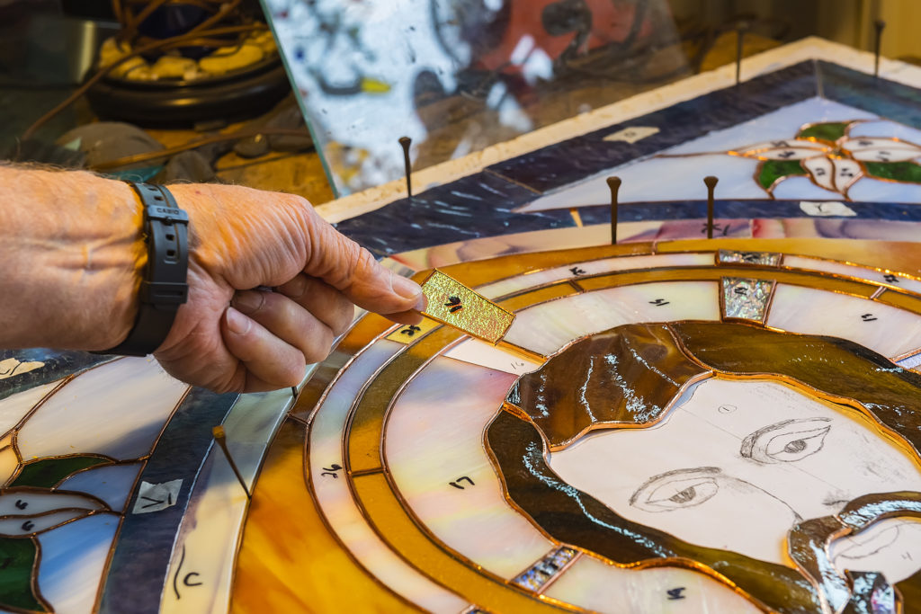 Gary Chaudoir Creates Stained-Glass Masterpieces - Door