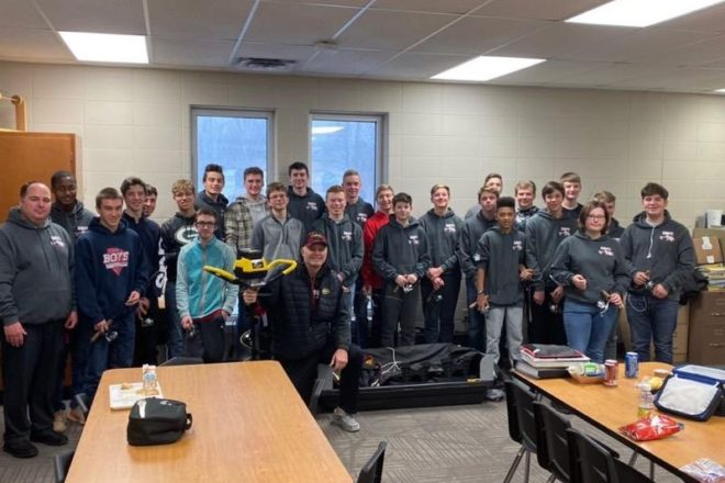 Professional Fisher Dale Stroschein Visits Fishing Club