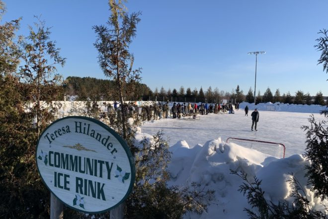 Sister Bay Ice Rink Now Open
