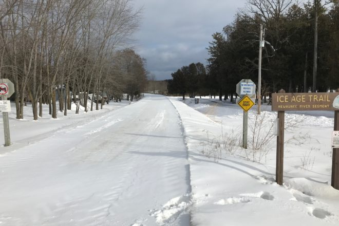 Use Caution On Kewaunee County Snowmobile Trails Door