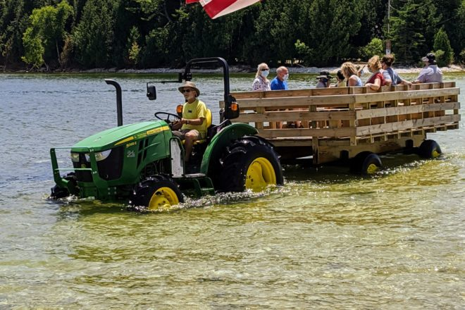 Framed: Cana Island Hay Wagon