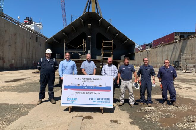 Fincantieri Bay  and Polaris New Energy Host Private Keel Laying