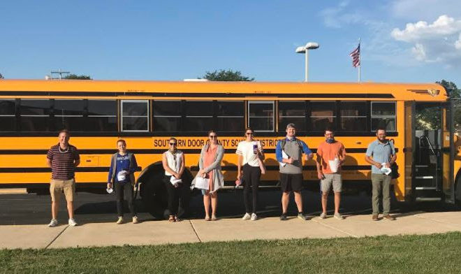 New Southern Door Teachers Tour District by Bus