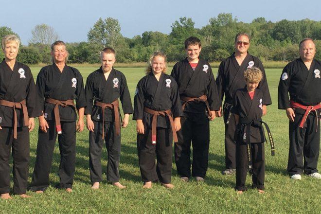 Karate Group Earns Brown, Black Belts