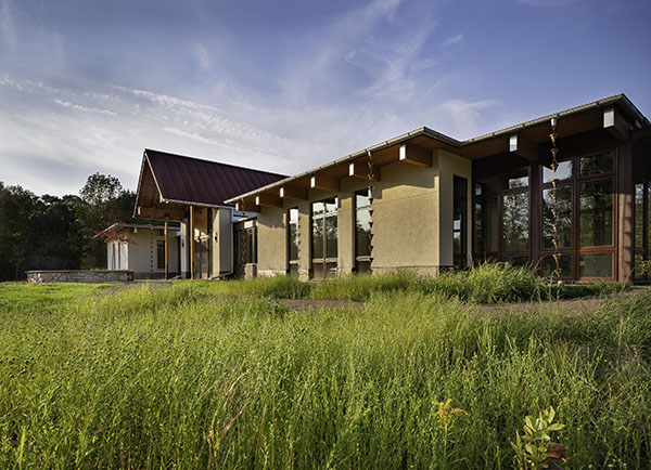 The new home of Write On, Door County opened in Juddville Oct. 9, 2020. Photo by Wayne Reckard, Kubala Washatko Architects.