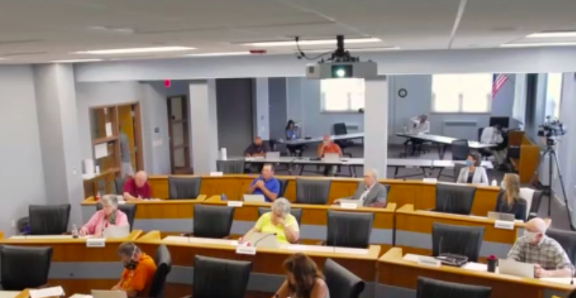 Many of the county's business and government operations shifted to the world of remote meetings. Early meetings were filled with hiccups as municipalities adjusted to meeting online, but scenes such as this meeting of the Door County Board of Supervisors became the new normal for government participation.