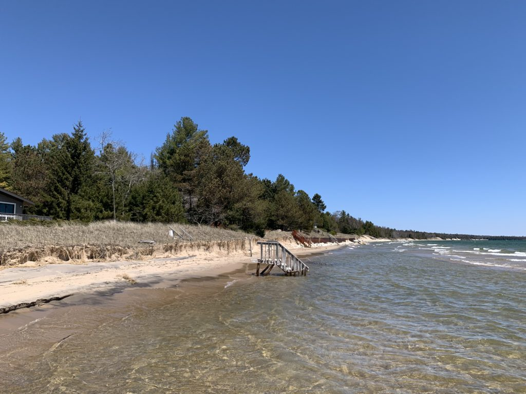 High water levels put shoreline property owners on edge during the spring as beaches washed away and some homes were endangered. Municipalities and landowners scrambled to install riprap and shore up waterfronts. Photo by Myles Dannhausen Jr.