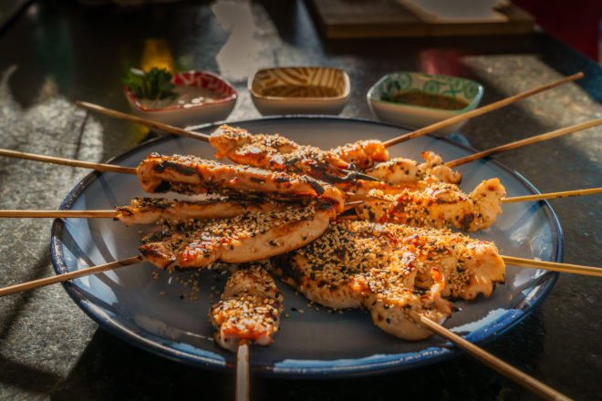 On Your Plate: Grilled Chicken on a Stick