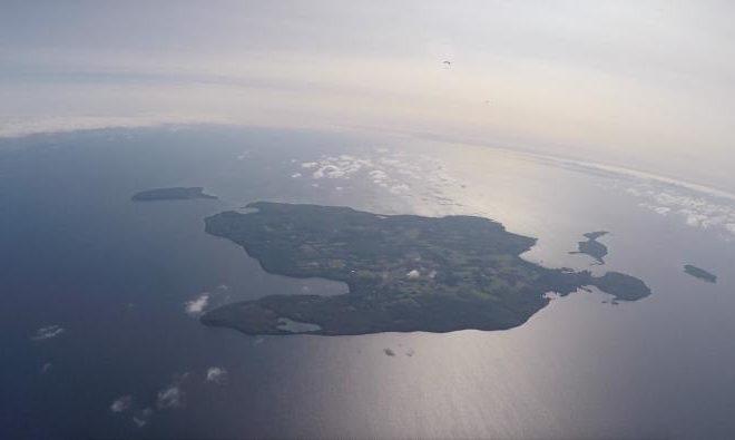 Skydive over Washington Island