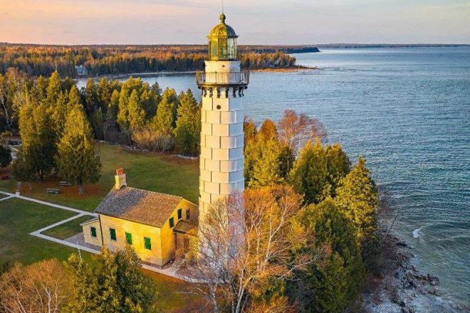 Lighthouses Shine Brighter Surrounded by Fall Colors