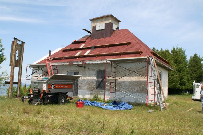 Plum Island Fog-Signal Roofing Project Complete