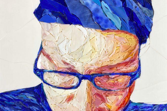 Shattering Glass: Joseph Kaftan's glass-mosaic portraits amuse, delight